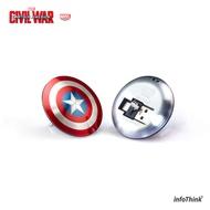 【InfoThink】美國隊長超薄盾牌TYPE C / USB雙頭隨身碟