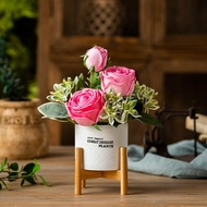 Cement Plant Pot Simulation Flower Artificial Flowers Pot