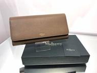 Mulberry Continental Wallet 翻蓋皮革長夾 奶茶色
