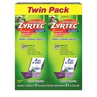 ▶$1 Shop Coupon◀  Children s Zyrtec 24 Hr Children s Allergy Syrup with Cetirizine, Sugar-Free Grape