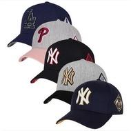 韓國-正品MLB楊基隊道奇隊 方側標NY帽 LA 棒球帽潮流帽