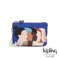 Kipling 手繪側臉圖騰三夾層配件包-MINI CREATIVITY