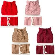 寶寶毛帽 保暖圍巾 加絨針織毛線帽 保暖加厚圍脖 脖圍 寶寶帽 CA5379 好娃娃