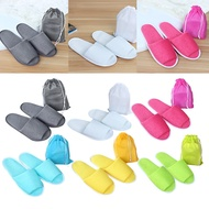 【READY STOCK】Unisex Hotel Travel Spa Disposable Home Guest Indoor Cotton Slipper