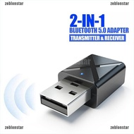 ❤star Car 2-in-1 Transmitter Receiver Wireless Audio USB Bluetooth FM Adapter 5.0 ▲▲