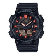 CASIO 世界城市雙顯錶/黑色/AEQ-110W-1A2VDF
