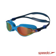 【SPEEDO】成人運動泳鏡 鏡面 Vue(海軍藍/金)
