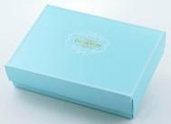 【基本量】優雅歐風8入巧克力&6入馬卡龍盒/粉藍色 / 100個
