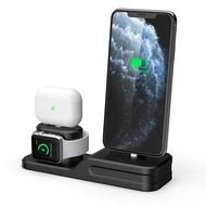 3ใน1แท่นชาร์จที่จับสำหรับ Iphone 11/11 Pro Iphone XS ซิลิโคนแท่นชาร์จแบบตั้งสำหรับ Apple นาฬิกา Airpods/Airpods Pro