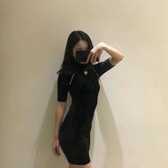 【優惠店】Adidas連衣裙愛迪達洋裝 三葉草長裙 愛迪達連衣裙  包臀裙  設計感