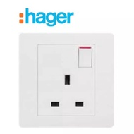 Hager Stylea Switch 13A Singapore / British Standard Socket Outlet