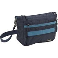 #MIZUNO 美津濃 D3TS600314   側肩袋&背包 (兩用)尼龍黑/拼几皮藍