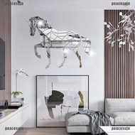 (SPG-COD)Animal Horse Stereo Acrylic Mirror Wall Sticker TV Background Wall Decoration