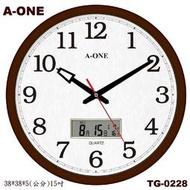 A-ONE時鐘15吋大時鐘 經典標準型LCD雙顯 同時顯示時間/月/日/農曆/星期 辦公室客廳商店↘最低價TG-0228