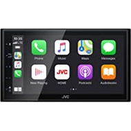 """JVC KW-M560BT Bluetooth Car Stereo Receiver with USB Port – 6.75"""" Touchscreen Display - AM/FM Radio - MP3 Player - Double DIN – 13-Band EQ – SiriusXM – with Apple CarPlay and Android Auto (Black)"""