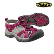 CodEX= KEEN WHISPER 編織彈性綁繩護趾防水包頭涼鞋(莓紅灰) 1012238 拖鞋 SANDALS 女