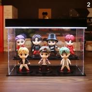7 Pcs KPop BTS Birthday Cake Topper Plastic Keychain Decoration for Girl Birthday Party
