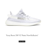 •D.S. • ® Yeezy Boost 350 V2 'Static Non-Reflective' 白天使 潮流