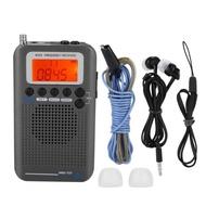 Aircraft Band Radio Receiver VHF Portable Full Band Radio Recorder for AIR/FM/AM/CB/VHF/SW Radio