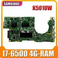 Laptop Mainboard DDR4 K501UXM Asus for K501uxm/K501uq/K501u/Original Ddr4/4g-ram/I7-6500u/..