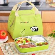 便當盒 304不鏽鋼分格不銹鋼飯盒  保溫便當盒食堂簡約餐盤韓國帶蓋餐盒