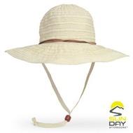 【Sunday Afternoons】女 抗UV可折疊寬簷透氣遮陽帽 雞蛋花(SAS2C14410C-948-07/遮陽帽/防曬帽)