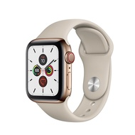 Apple Watch Series 5 Gold Stainless Steel Case with Stone Sport Band 40mm GPS + Cellular