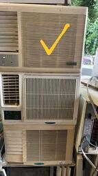 二手中古普騰0.8噸窗型冷氣,110V,保固3個月,請加line帳號chin0290問大戶藥師
