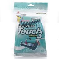 [Dorco] Touch3 三層刀片刮鬍刀 8入 [韓國直送]