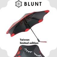 [現貨]BLUNT 紐西蘭 XS_METRO 台灣限量款 抗強風 99%抗UV折傘《紅唇之夜》/BLT-X02/摺雨傘