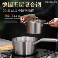 German thickened 304 stainless steel milk pot soup baby food supplement small nonstick mother s helper induction cooker1