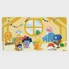 KAKAO FRIENDS-大集合遊樂款口罩收納夾(米黃)