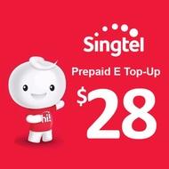 Singtel Hot128 Prepaid eTopUp SGD28