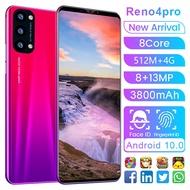 โทรศัพท์ถูกๆ Reno4 โทรศัพท์มือถือราคาถูกๆ หน้าจอHD 5.8 นิ้ว  Android มือถือราคาถูก RAM 512MB+ROM 4GB โทรสัพราคาถูก สมาร์ทโฟน ใส่ได้2ซิม โทรศัพท์ถูกๆ1000