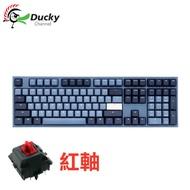 創傑 Ducky One 2 中文紅軸機械式鍵盤/Cherry軸/PBT/Good in blue/海波浪/DKON1808雙模配色