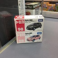 《GTS》TOMICA 多美小汽車 NO98絕版Toyota AQUA初回+普通 39256-45037