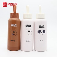 Miniso We Bare Bears Glass Water Bottle (300ml)