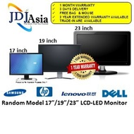 """IMMEDIATE DELIVERY [Refurbished] LCD LED Monitor 17"""" 19"""" 23"""" Inch Dell HP Lenovo Acer Samsung Philips 1 Months Warranty"""