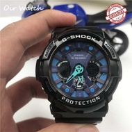 Original Casio_G Shock_GA-200 Fashion Men's Fully Automatic Sports Resin Watch Double Time Display Automatic Calendar+Date World Time Alarm Clock GA-200/GA200