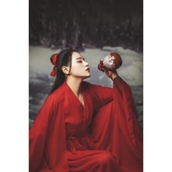 Women's Oriental Undefeated Brigitte Costume Cos Red Adult Costume