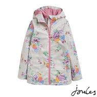 【Joules】童 Raindance 防風 防水 外套(奶油白/花朵)