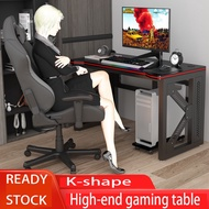 🔥High-end gaming table, home gaming computer desktop table, table and chair gaming table and chair set K-shaped legs