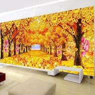 "DIY 5D Diamond Painting ""gold Full of land""Money tree 3D Diamond Embroidery Full Diamond Home Decoration"