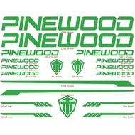 Pinewood Bike Frame Decals