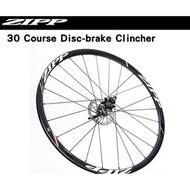〝ZERO BIKE〞ZIPP 30 Course Disc-brake Clincher  OPEN胎 700C 碟煞版 公路車 輪組  不只是練習用的輪組