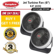 *BUY 1 GET 1 FREE* EuropAce 6 Inches Jet Turbine Fan Grey - EJF 163Q / Up to 7metres square /1 Year warranty