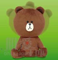 【真愛日本】 14030400024 搖頭張手坐姿娃-熊大 LINE公仔 饅頭人兔子熊大 絨毛抱枕 娃娃 景品