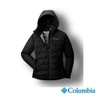 【Columbia 哥倫比亞】女款- 防水Omni-Heat鋁點保暖650羽絨外套-黑色(UWR02280BK / 保暖.防水.羽絨)