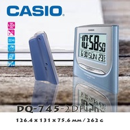 Casio DQ-745-2DF Blue Big Digital Alarm Clock with Thermometer