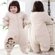 🔥現貨♚┅▫寶寶嬰兒睡袋兒童分腿冬季加厚大童秋冬純棉春秋薄款新生兒防踢被
